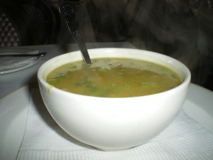 Chicken and Pea soup from The Grand Cafe and Beach