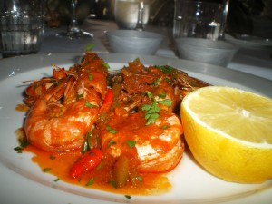 spicy prawns cooked to perfection